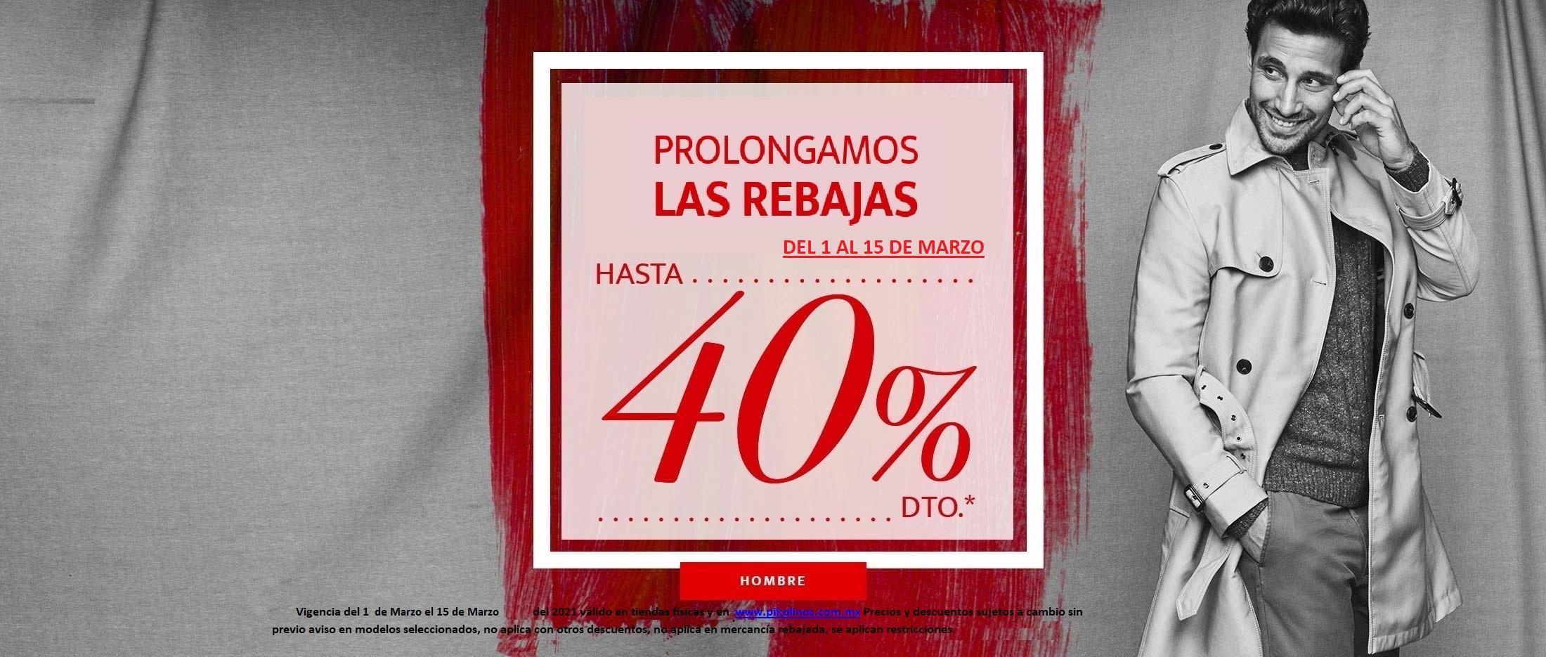 PROLONGAMOS LAS REBAJAS  40 HOMBRE